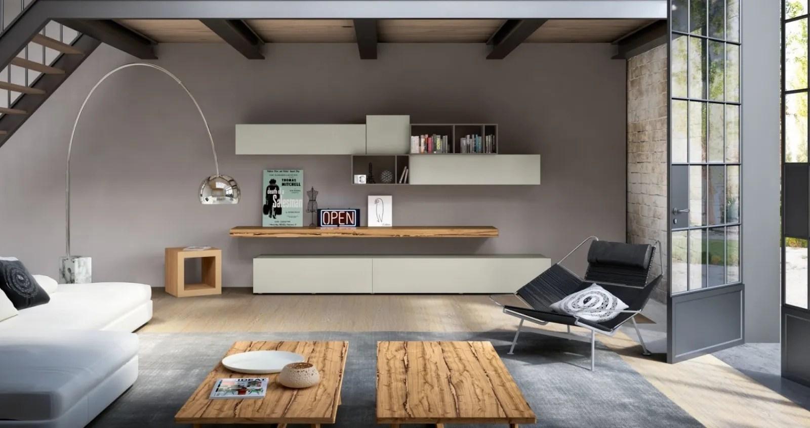 pareti attrezzate moderne soggiorno di lusso. Parete Attrezzata Moderna 596 Di Napol Arredamenti
