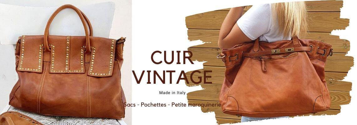 sacs en cuir vintage italien pour femme