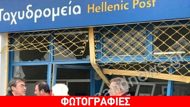 Ληστές μπούκαραν με τζιπ στα ΕΛΤΑ της Μαυροθάλασσας Σερρών