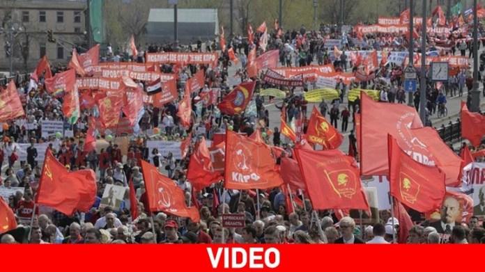 Ρωσία: Τεράστια διαδήλωση στη Μόσχα για την Εργατική Πρωτομαγιά