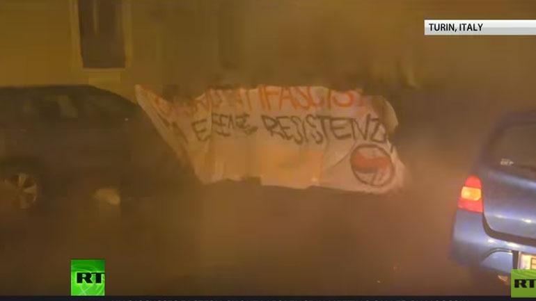 Εκτεταμένα επεισόδια στο Τορίνο μεταξύ της αστυνομίας και αντιφασιστικών οργανώσεων