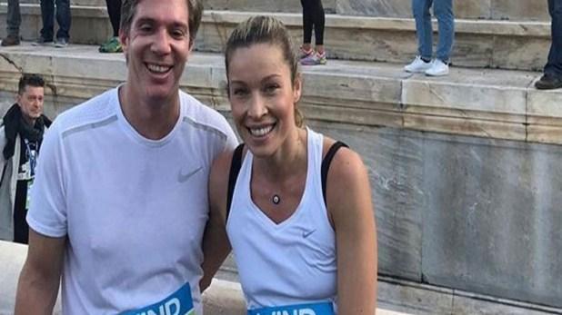 Marietta Hrussala and Leo Patitsa meet at Athens' 36th Marathon!