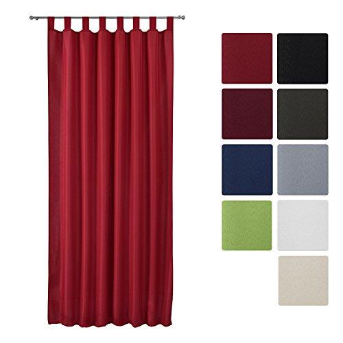 4054673357264 beautissu rideau opaque a passant amelie voilage uni a pattes 140x175 cm decoration interieur rouge