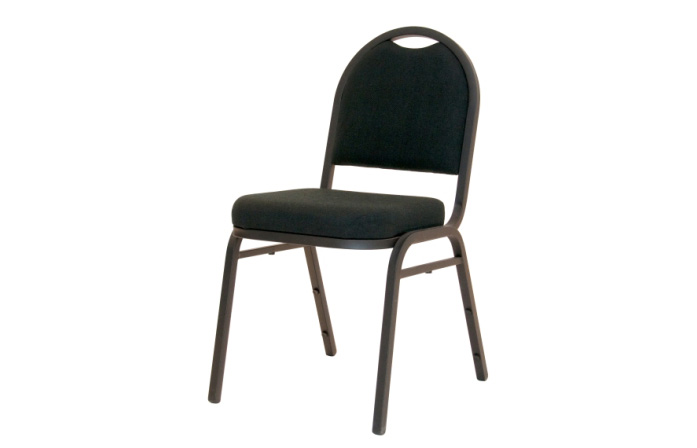 banquet metal padded stacking chair