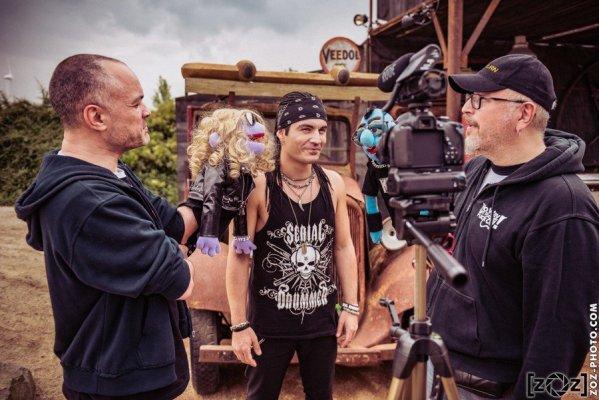 Franky Costanza en interview à l'espace VIP-Presse du Hellfest à Clisson, le 17 juin 2016. Festival de musiques extrêmes et metal en France.