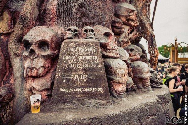 Mémorial pour Lemmy Kilmister de Motörhead, au Hellfest à Clisson, le 18 juin 2016. Festival de musiques extrêmes et metal en France.