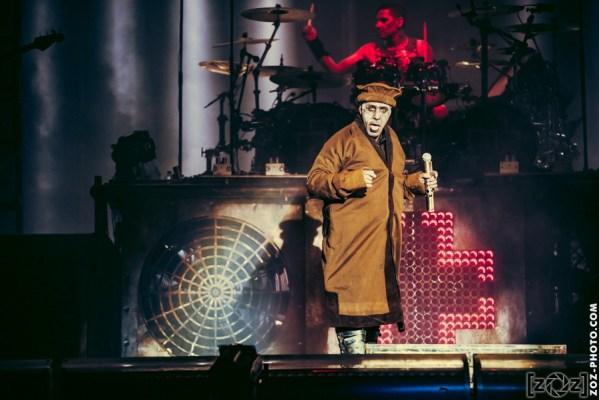 Rammstein au Hellfest à Clisson, le 17 juin 2016. Festival de musiques extrêmes et metal en France.