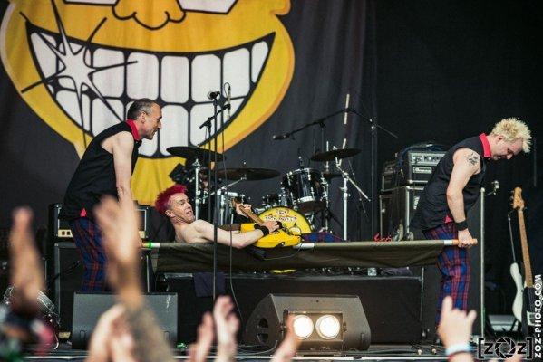 The Toy Dolls au Hellfest à Clisson, le 18 juin 2016. Festival de musiques extrêmes et metal en France.