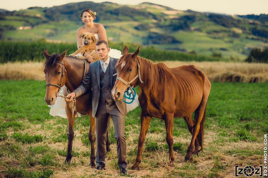 Traitement mariage : photo traitée