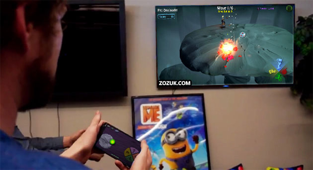 BombSquad game on TV with remote app