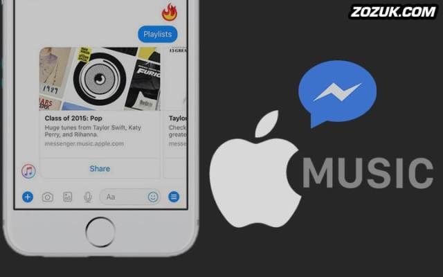 apple music and facebook messenger integration