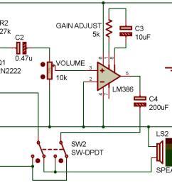 intercom circuit diagram [ 1408 x 973 Pixel ]