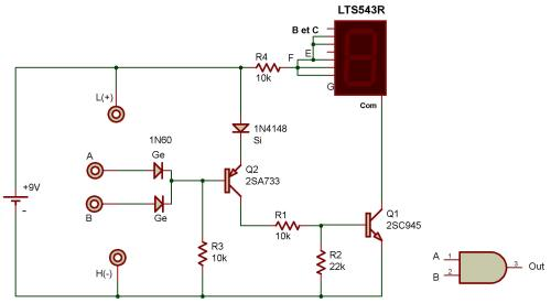 small resolution of the purpose of this project is to study a logic and circuit as used in computers the readout is connected to display the letter h when terminals a and b