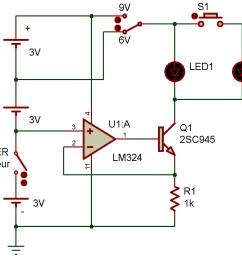 this circuit can maintain a constant current not just when the source voltage is  [ 1243 x 973 Pixel ]