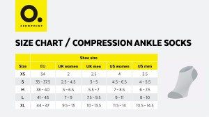 ZP size chart ankle socks