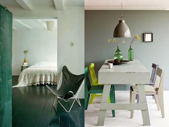 zielone ściany w mieszkaniu