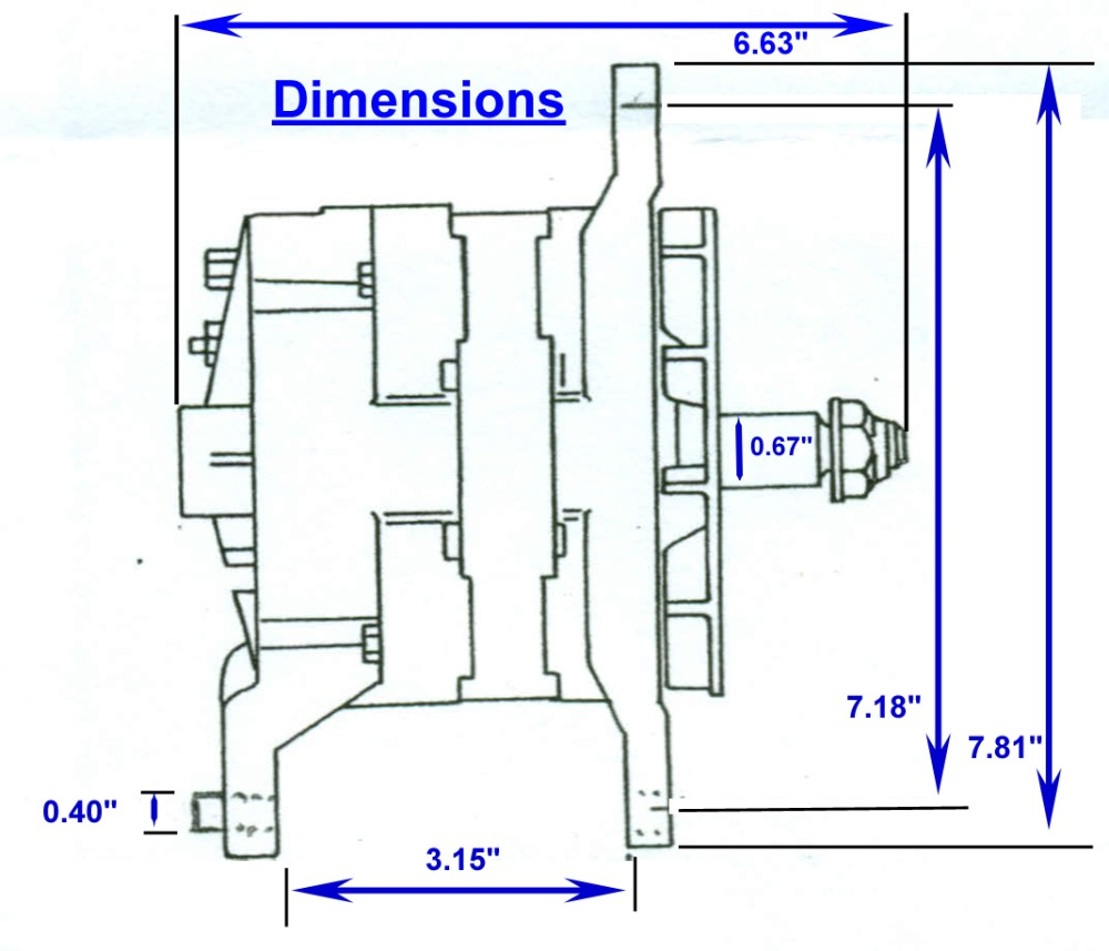medium resolution of zrd high output alternator 3 15 inch mounting dimensions click here for the 3 15 dual foot dimensional drawing
