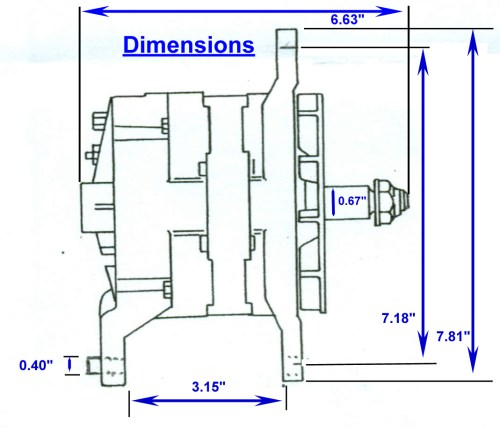 small resolution of zrd high output alternator 3 15 inch mounting dimensions click here for the 3 15 dual foot dimensional drawing