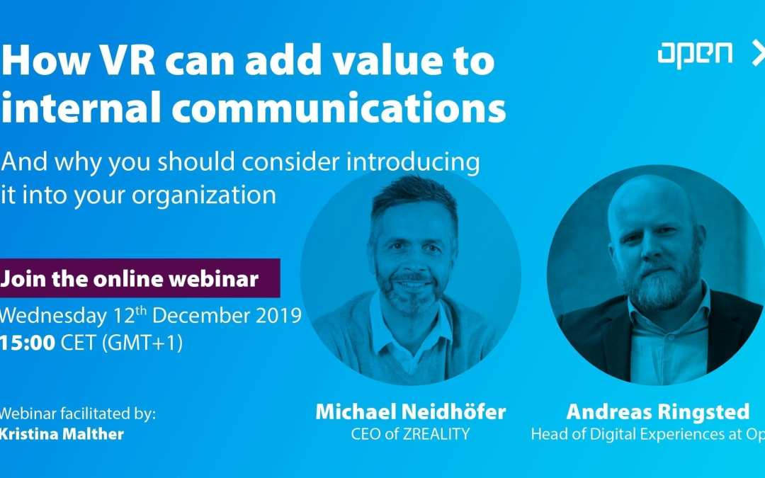 Was kann VR als Kanal für die interne Kommunikation leisten – und warum Sie die Einführung in Ihrer Organisation in Betracht ziehen sollten