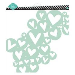 Трафарет Heart Cluster, 30х30 см, Heidi Swapp, 00772