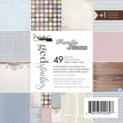 Набір картону Family Jeans Donna Salazar, 15х15 см, GCD Studios, 2089