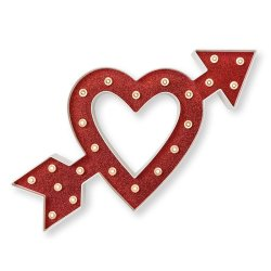 Прикраса Marquee Kit – 14 Inches – Heart with Arrow, Heidi Swapp, 312443