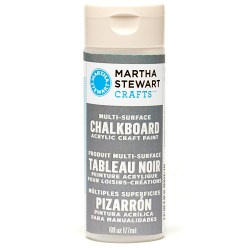 Multi-Surface Chalkboard Acrylic Craft Paint – Gray, Martha Stewart Crafts, 32218
