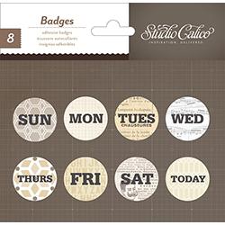 Прикраси Badges, SC Classic v.3 – Weekdays, Studio Calico, 331128