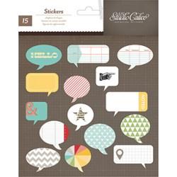 Висічки Chipboard Speech Bubbles – Snippets, Studio Calico, 331345