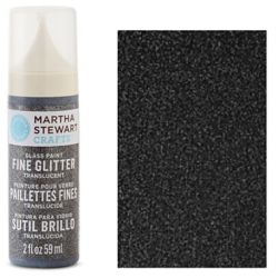 Фарба Fine Glitter Translucent Glass Paint – Obsidian, Martha Stewart Crafts™, 33154