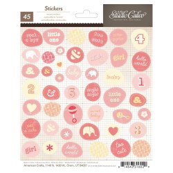 Наклейки Story Time Accent Baby Girl, Studio Calico, 331602