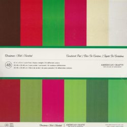 Набір картону Christmas, American Crafts, 30х30 см, 35624