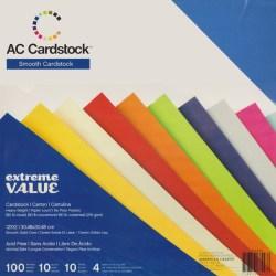 Набір картону Extreme Value Smooth Cardstock, American Crafts, 30х30 см, 366243