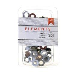 Люверси Metallic 3/16″, 50 шт, American Crafts, 366332