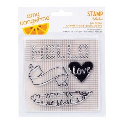 Штампи Amy Tangerine Day Dream Acrylic Stamps 4″X4″, 368984