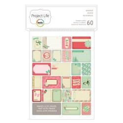 Міні набір карток для Project Life, Winter, American Crafts, 60 шт, 380230