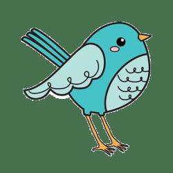 Штамп акриловий Bird, 400130