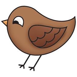 Штамп акриловий Bushels O' Fall – Bird, Imaginisce, 400268