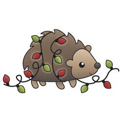 Штамп акриловий Colors Of Christmas – Hedgehog, Imaginisce, 400283