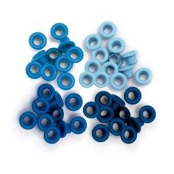 Люверси Standard Eyelets – Aluminum Blue, 60 шт, 41578-7