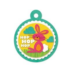 Тег з тисненням Embossed Tags – Hop Hop Hop, 41636-4, 6 шт