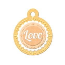 Тег з тисненням Embossed Tags – Love, 41654-4, 6 шт