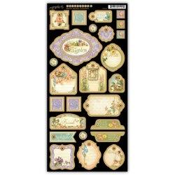 Набір висічок, Secret Garden Chipboard 2, Graphic 45, 4500669