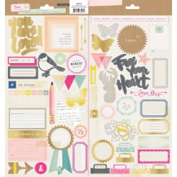 Наклейки Notes & Things, Crate Paper, 683539