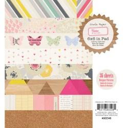 Набір паперу Notes & Things, 15х15 см, Crate Paper, 683548