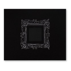 Альбом Black w/ Embroidered Frame, American Crafts, 30х30 см, 76186