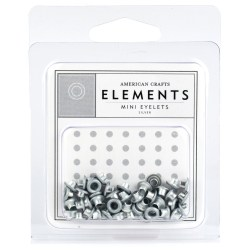 Люверси Mini Eyelets – Silver, American Crafts, 85460