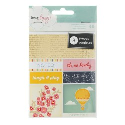 Книжка наклейок Bits Perforated Book – Dear Lizzy Lucky Charm, American Crafts, 85657