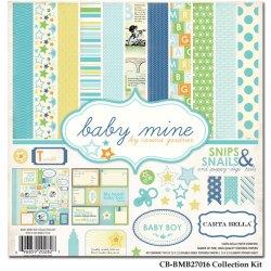 Набір паперу Baby Mine Boy, 30х30см, Carta Bella, CBBMB27016