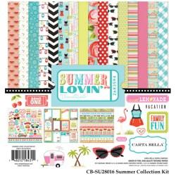 Набір паперу Summer Lovin', 30х30 см, Carta Bella, CBSU28016